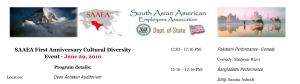 Program for State Department South Asian American Employee Association Show 6/29/2010 Screenshot